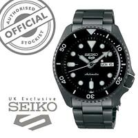 Seiko 5 Sports Black Dial Grey Stainless Steel Auto Mens Watch SRPD65K1 RRP £300