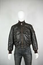 vintage Golden Bear leather jacket M flight G-1 A-2 brown made in USA mens