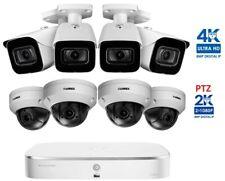 NEW Lorex 8 Channel PoE 2TB NVR Security 8 Cameras 4 Bullets 4K + 4 PTZ LNZ44P4B