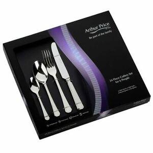 Arthur Price Classic Grecian 24 Piece Cutlery Gift Box Set