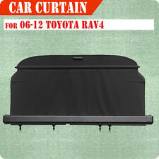 Fit 06-12 Toyota RAV4 Cargo Cover Retractable BLACK Rear Truck Luggage Shade