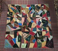 1900 Crazy Quilt Lydian Humbert & Daughters Clara & Emma Carroll County MD