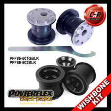 Audi A3 MK2 8P (03 on) Powerflex Black Front Wishbone Bushes Camber Adjust