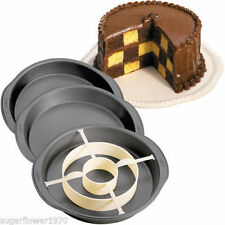 Wilton Checkerboard Cake Pan Set 3 pans plus dividing ring  FAST DESPATCH