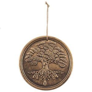 LISA PARKER TERRACOTTA BRONZE TREE OF LIFE GARDEN PLAQUE