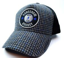 "GONGSHOW HOCKEY ""SKATE BEFORE YOU CRAWL""  HOCKEY CAP/HAT - BLACK/GRAY/BLUE"
