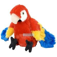 Wild Republic Zoo Animal Plush Toy Macaw Scarlet Bird 12'' For Kids