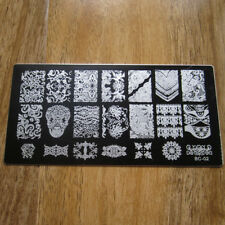 Stamp Plate Scraper Stamper Manicure Image Polish Template Nail Art Printing 02