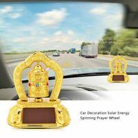 Tibetan Tibet Buddhist Solar Energy Spinning Prayer Wheel ABS For Car Vehicel