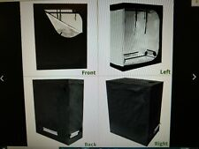 48 x 24 x 60 Hydroponics Plant Grow Tent Black with Reflective Mylar Lining.
