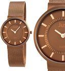 Damen Armbanduhr Braun Bronze Slimline Edelstahl Meshband von JUST 99,90€ UVP