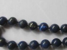 Genuine blue lapis lazulli, choker,AA grade,gem quality/12mm/27 round/21inslong/