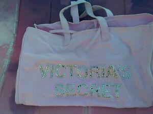 Victoria's Secret  PINK Weekender Tote Gym Travel Bag ties Mauve Pink