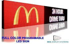 Wifi 25x 63 Full Color 10mm Programmable Led Digital Image Text Business Sign