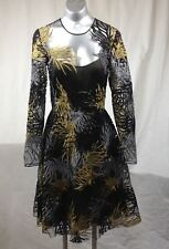 631c48e5be46 NAEEM KHAN Threadwork Embroidered Long Sleeve Dress SZ 4 Retail for $5785.00