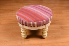 Home Fashions Wood Vintage Dollhouse Stool Beautiful Round Chair DN-2058