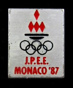 MONACO NOC Olympic Pin 12th Olympic Games of the Small States of Europe 1987