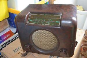 Bush DAC 90A Bakelite Valve Radio Basic test finds it working, 1950s Vintage