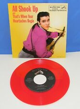 Elvis Presley 1957 All Shook Up/That's When Your Heartaches Begin! Red Vinyl 45
