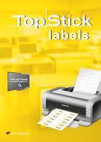 2.400 Universal-Etiketten Vielzwecketiketten 70 x 37 mm weiß 100 Blatt Packung