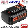 Replace For Black & Decker 40V MAX Battery 3.0Ah Lithium LBX1540 LBX2040 LBXR36
