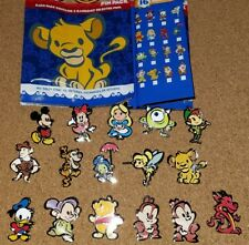 Disney Pins Stylized Cutie Character Mystery Series Complete Set 16 AUTHENTIC
