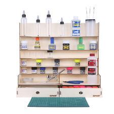 OPHIR Paint Rack Wooden Storage Organizer Holder Modeler Tool for Hobby Paint