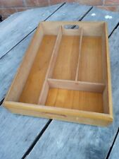 Vintage Wooden Cutlery Drawer Tray