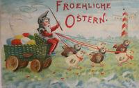 """""""Ostern, Zwerge, Küken, Ostereier, Kutsche"""" 1908 ♥ (13310)"""
