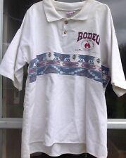 Vintage Prca Professional Pro Rodeo Cowboy Assocation Rider Polo Shirt *Rare*