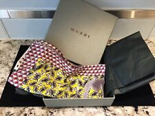 """Marni Silk Printed Scarf NEW IN BOX Ialian Scarf Handkerchief, 16' by 16"""""""