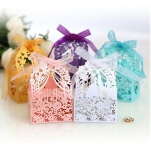 Bride Groom Laser Cut Wedding Favors Paper Box 20/50/100pcs Wedding Favors Décor