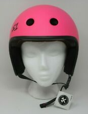 S One 1 Retro Lifer Skate Helmet Neon Pink Matte S Small Protective Gear