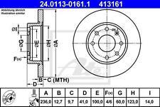 1 Satz Bremsscheiben ATE 413161 OPEL ASTRA F, KADETT D/E, ASCONA C, CORSA A/B