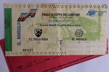 Ticket Finale Champions league 1991 étoile Belgrade Olympique Marseille OM