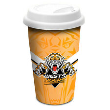 Wests Tigers NRL Ceramic Coffee and Tea Travel Mug Cup