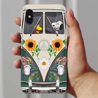 Snoopy and Woodstock Hippie Bus Phone Case Iphone 11 Pro X Xr Xs Max 8 7