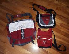 Roots Athletics Travel Bag 3 pc set Side Saddle   Purse Sack Excellent Condition