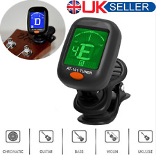 More details for lcd clip-on electronic digital guitar tuner for chromatic bass violin ukulele ..