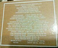 Triumph T140 TR7 1973-80 seat pan data decal transfer sticker 60-7226, pair