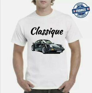 Tee-shirt Porsche 911 voiture sport luxe top qualité