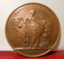 1880 MEDAL LABORE NEUFCHATEL MILK INDUSTRY COW WOMAN