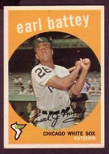 1959 TOPPS EARL BATTEY CARD NO:114 EB24 NEAR MINT CONDITION