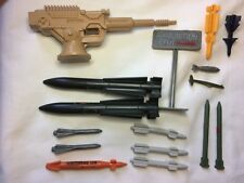 Vintage GI Joe or Other 1980's Military Weapons, Missiles, Bombs Lot
