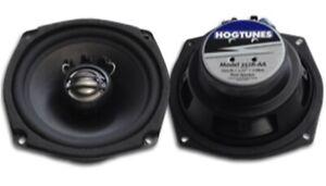 """HogTunes Rear 5.25"""" 100 Watt 2 Ohm Speakers for Harley FLHT FLHX 2006-2013"""
