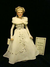 GINGER ROGERS PORCELAIN DOLL HAMILTON MIB Fred Astaire Barkleys of Broadway RARE