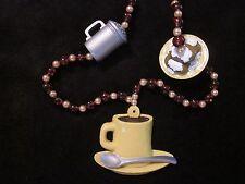 "NEW ORLEANS CAFE du MONDE ""COFFEE & BEIGNETS"" MARDI GRAS BEAD DOUGHNUTS (B262)"