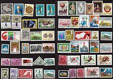 HONGRIE 58 timbres oblitérés. sans doubles, sujets divers  135T5