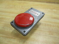 Joslyn Clark 5A2N Palm Push Button Stop Red