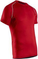 SUGOI Pace Tshirt Mens Large Short Sleeve Run Gym Athletic Bike Red Matador Top
